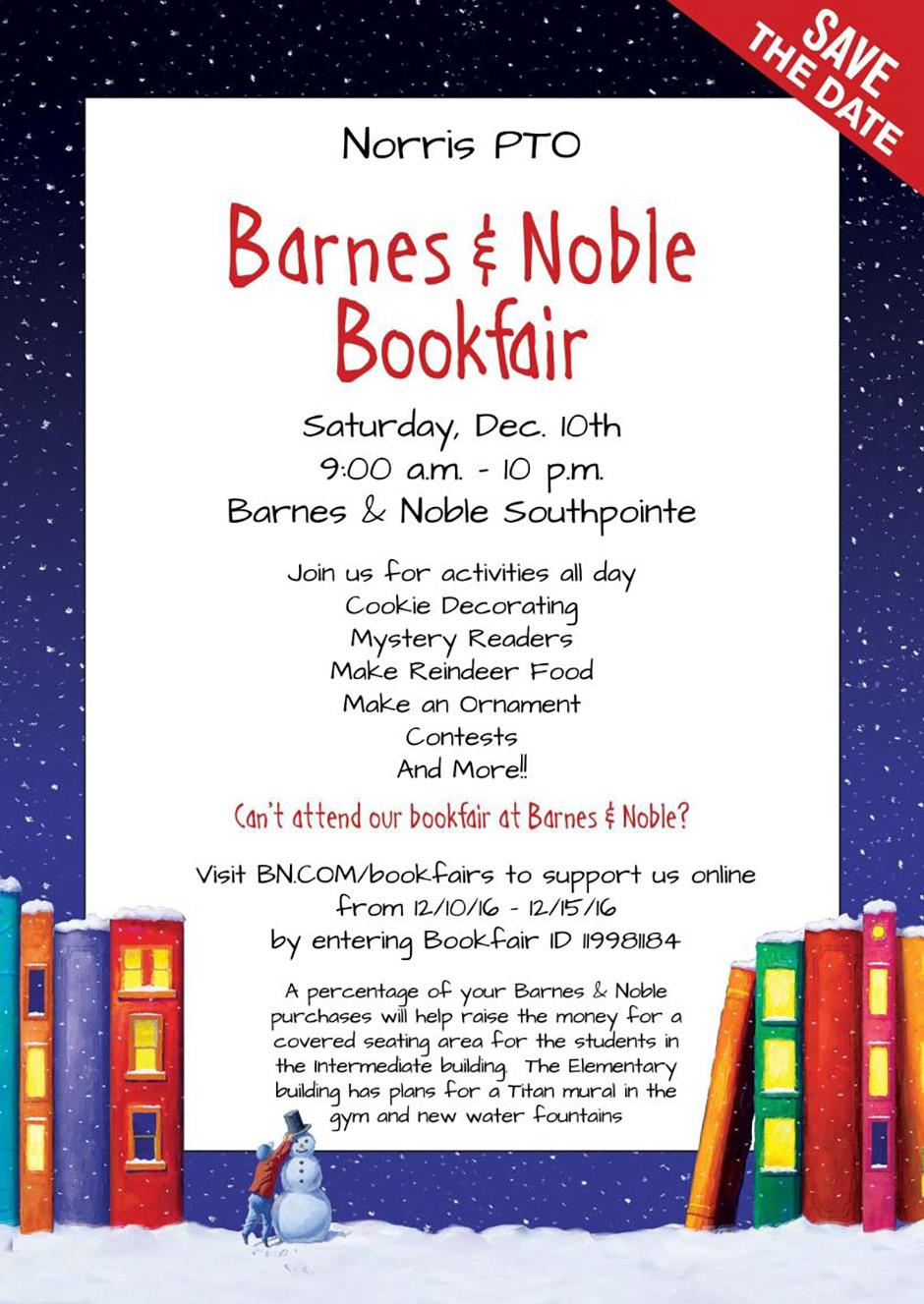 Barnes and Noble Bookfair benefits Norris PTO | Norris School District