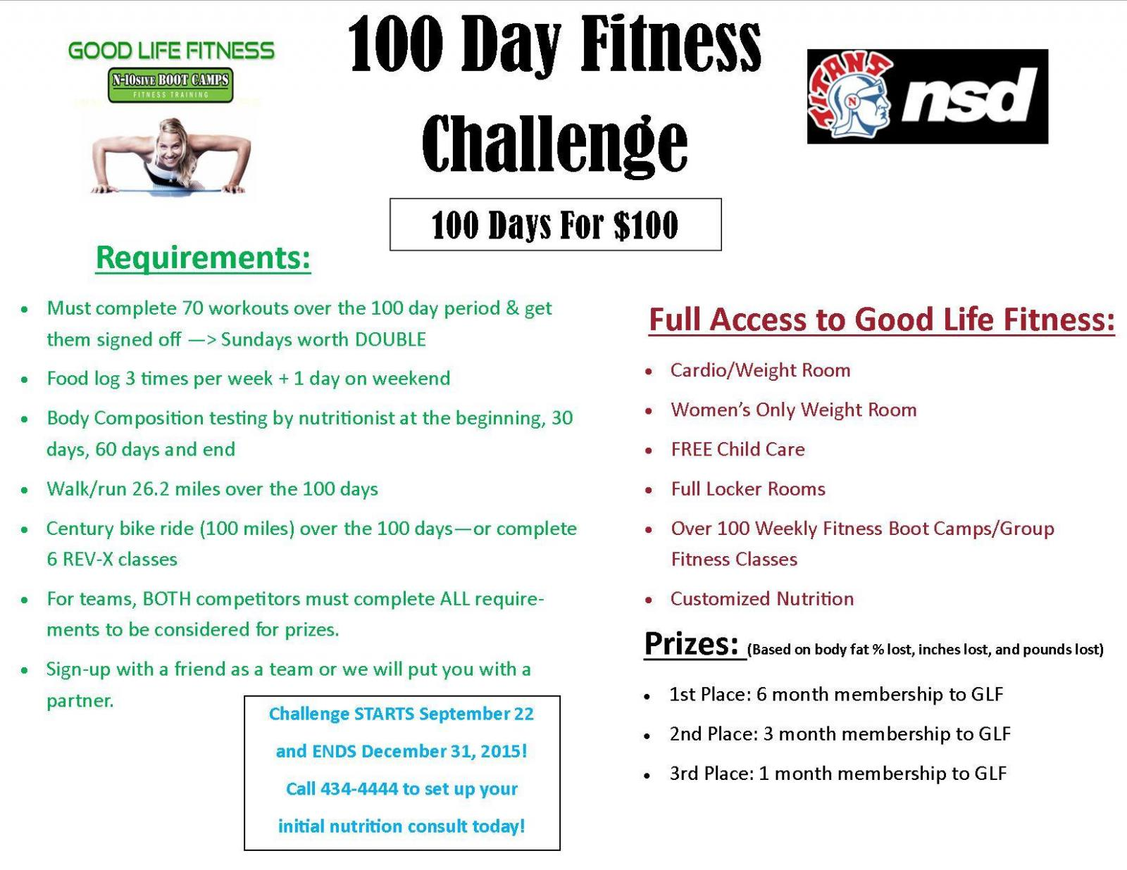 100 Day Fitness Challenge for Norris Community | Norris School District