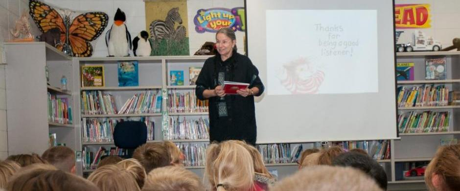 Award winning author and illustrator Diane deGroat visits Elementary, Intermediate Schools