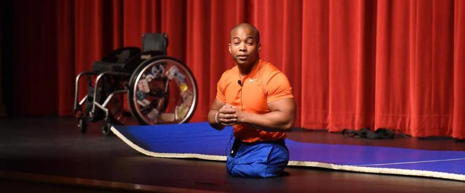 "Rohan Murphy delivers ""NO EXCUSES"" message to Norris HS Students"