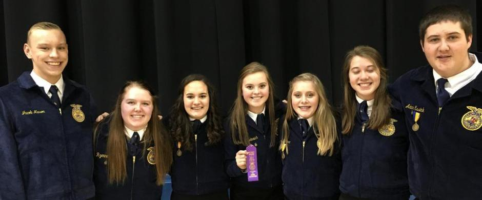 Norris FFA Competes in District Leadership Skills Events