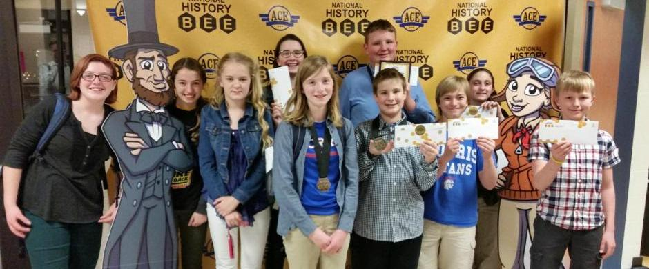 History Bee Students Compete at Regionals SEVEN Qualify for Nationals