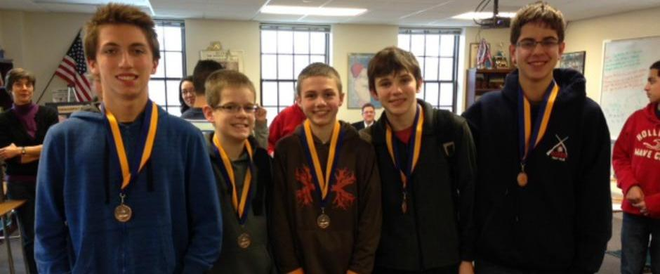 Middle School quiz bowl team places third at Brownell-Talbot