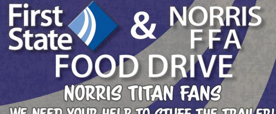 FFA/First State Bank Food Drive