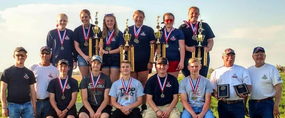 Junior High & High School teams bring home hardware from State Trap!