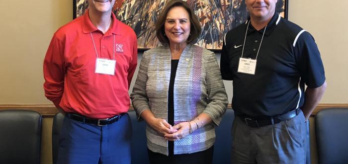 Norris Superintendent John Skretta, Senator Deb Fischer and Humphrey Superintendent Greg Sjuts met in Washington DC.