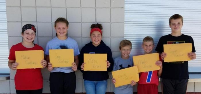 Middle School Terrific Titans for the month of September