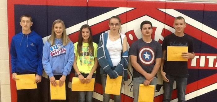 MS students recognized at October PBiS assemby