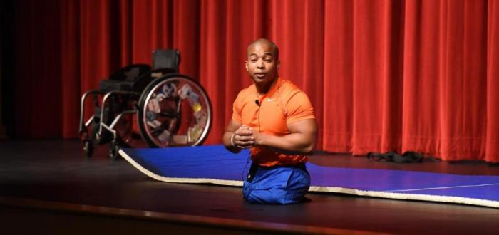 """Rohan Murphy delivers """"NO EXCUSES"""" message to Norris HS Students"""