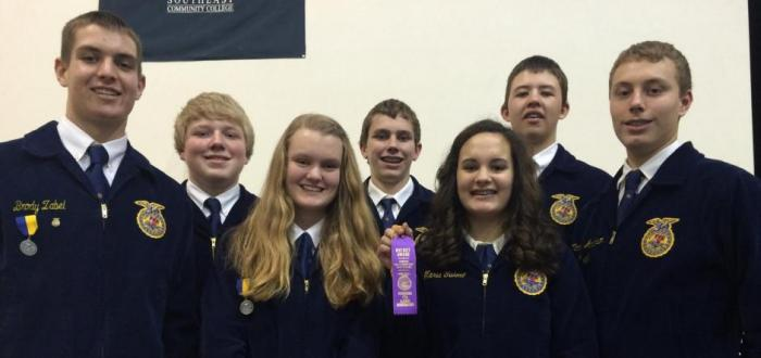 Norris FFA Chapter Competes Well in District Leadership Skills Speaking Events