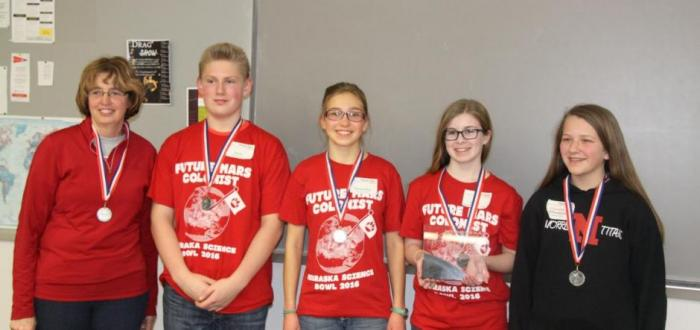 MS Science Bowl Team Competes in State Tournament