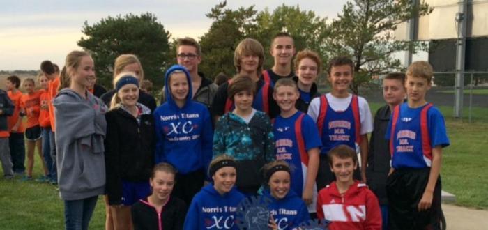 Norris MS Runners End Season with Team Titles
