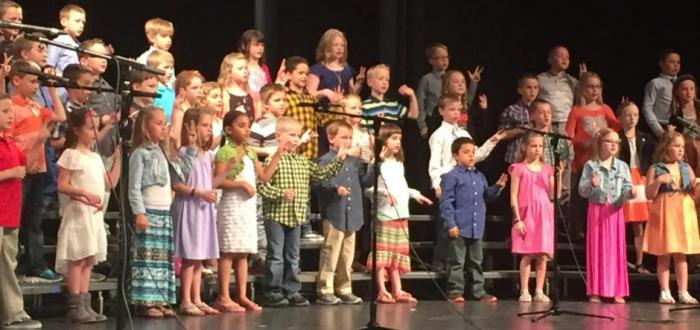 First and Second Graders show off music talents