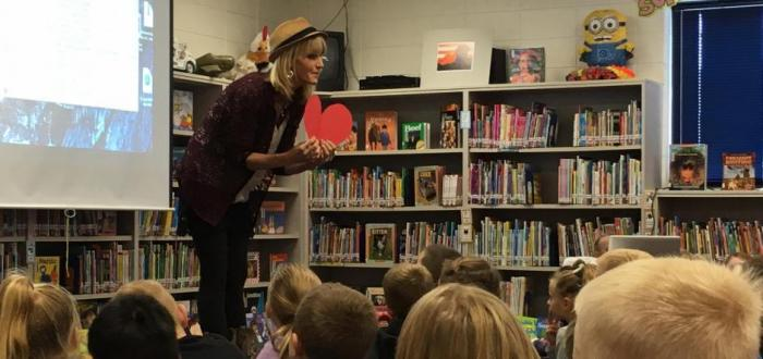Author Julia Cook visits Norris Elementary