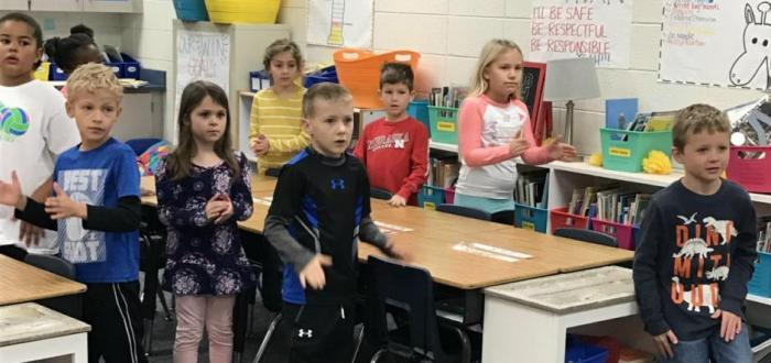 Norris Second Grade Students and Teachers honored for utilizing GoNoodle to make movement and mindfulness an integral part of the day.