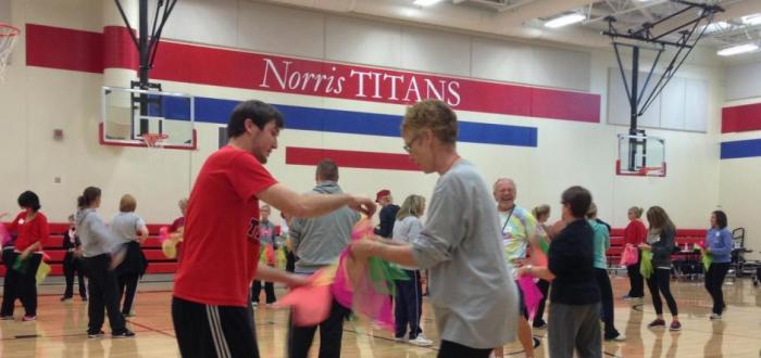 """Rural Nebraska on the Move"" grant provides the ""SPARK"" to keep Norris kids and teachers up & moving"