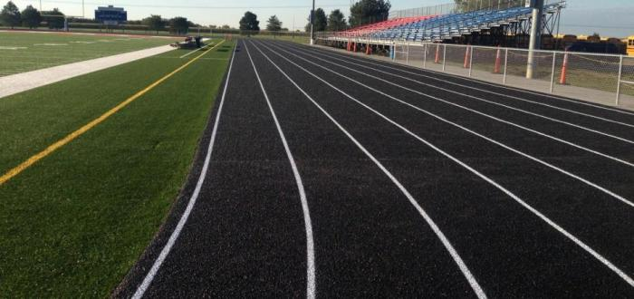 Track Resurfacing Complete, Turf Field back in play!