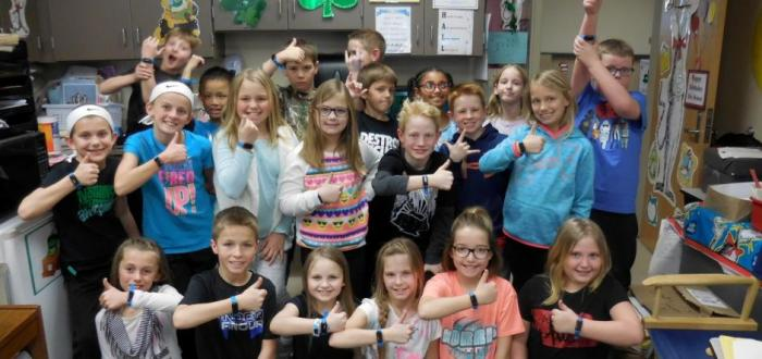 "Norris Intermediate students participate in UNICEF ""Kid Power Bands"" program"