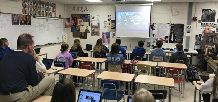 Student's in Tom Allen's  Norris High School Government 1 classes