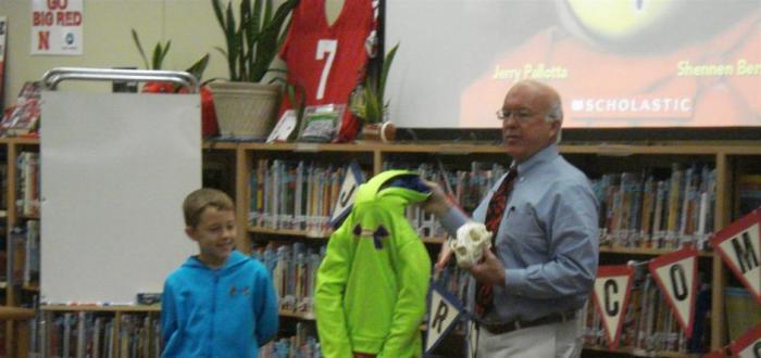 Award-winning author Jerry Pallotta visits Norris Elementary and Intermediate Schools