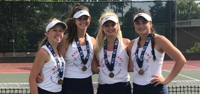 Norris Girls Tennis take 5th at State and Both Doubles Teams Medal