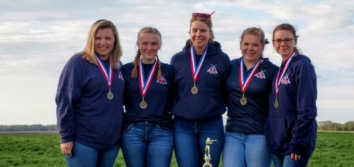 (left to right): Chloe Bowman, Julia Stephenson, Haley York, Seanna Woodward, Anastasia Davis