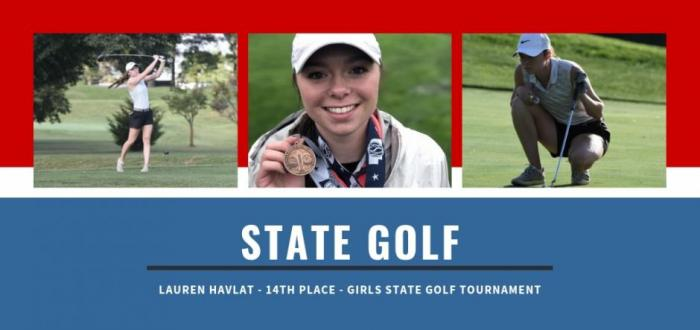Lauren Havlat earns 14th place at state golf tournament