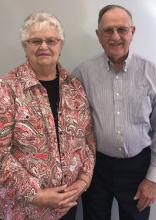Longtime Norris Titans supporters Ann and Marv Weber